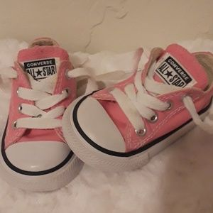 Converse All Star pink infant shoes size 3